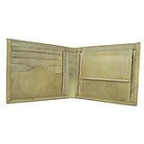 Tašky - Pánska elegantná peňaženka z pravej kože v khaki farbe, ručne tamponovaná - 9828073_