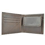 Peňaženky - Luxusná peňaženka z pravej kože, ručne tamponovaná, tmavo hnedá - 9828123_