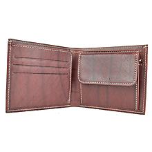 Peňaženky - Luxusná peňaženka z pravej kože, ručne tamponovaná, bordová - 9828142_