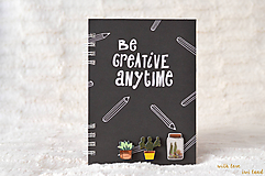 Papiernictvo - Zápisník - kaktus/sukulent - 9827940_