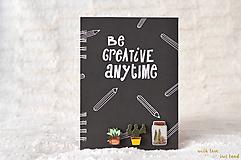 Zápisník - kaktus/sukulent