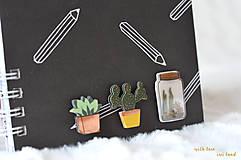 Papiernictvo - Zápisník - kaktus/sukulent - 9827941_