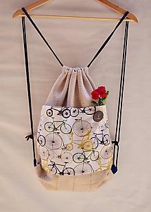 Batohy - Vak cyklistka Petra  90% upcyklovaný - 9829003_