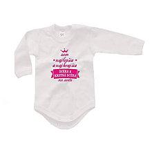 Detské oblečenie - Som najlepší/ia krstný/ná syn/dcéra - detské body/tričko - 9827424_