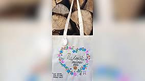 Nákupné tašky - ♥ Plátená, ručne maľovaná taška ♥ (MI27) - 9826369_