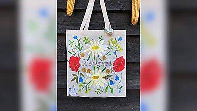 Nákupné tašky - ♥ Plátená, ručne maľovaná taška ♥ - 9826520_