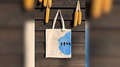 Nákupné tašky - ♥ Plátená, ručne maľovaná taška ♥ - 9826565_