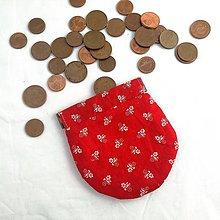 Peňaženky - Mincovník červeny folk - 9826482_