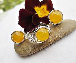 Sady šperkov - jadeit žltý - 9827226_