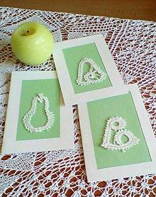 Papiernictvo - vianočná paličkovaná pohľadnica - 9828779_