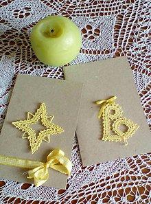 Papiernictvo - vianočná paličkovaná pohľadnica - 9829119_