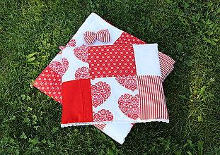 Textil - červená súprava do postielky - 9826496_