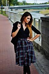 Sukne - Sukně ELIS, tmavší káro - 9830938_