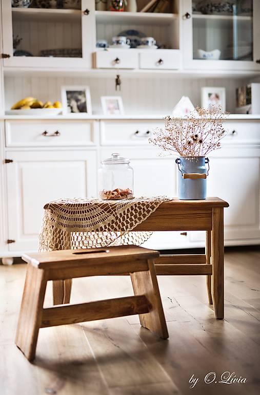 Dubová lavička - kartáč, olej