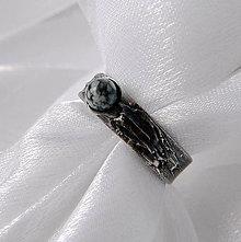 Prstene - Prsteň s obsidiánom ◙ MAYUMI ◙ - 9829343_