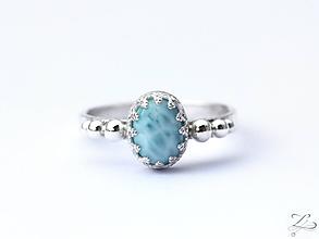 Prstene - Strieborný prsteň s larimarom - Larimarík - 9830845_