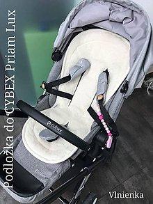 Textil - Podložka do kočíka CYBEX Priam Platinum Lux proti poteniu 100 %merino top super wash obojstranná - 9829457_