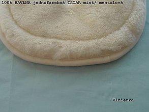 Textil - Podložka do kočíka CYBEX Priam Platinum Lux proti poteniu 100 %merino top super wash obojstranná  (Tyrkysová) - 9829469_