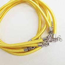 Komponenty - Hodvábny náhrdelník 5mm (Sungold) - 9830894_