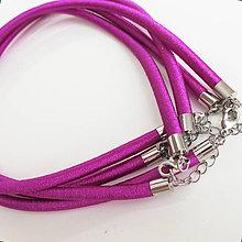 Komponenty - Hodvábny náhrdelník 5mm (Cvikla) - 9830895_