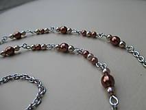 Sady šperkov - Retiazka na okuliare s náušnicami - nehrdzavejúca oceľ - 9832065_
