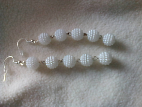 Náušnice - perličkové náušnice visiace dlhé - 9830243_