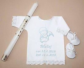 Detské oblečenie - Krstná košieľka - anjelik 2 - 9830673_