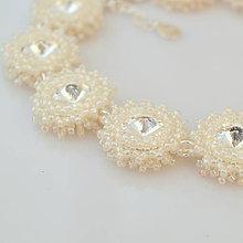 Náramky - Diamond ICE náramok (Ag925) (Ceylon Light Ivory) - 9831621_