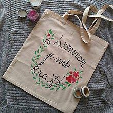 Nákupné tašky - Bavlnená taška ~ Krajší svet - 9830704_