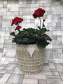 Nádoby - Romantický kvetináč - skladom!!! - 9829212_