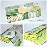 Peňaženky - Peňaženka v zelenom - 9831713_