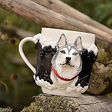 Nádoby - Sibírsky husky - hrnček podľa fotografie psa - 9829884_