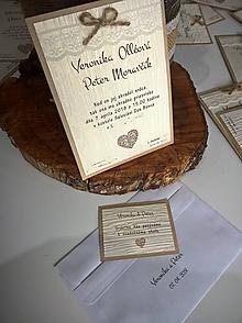 Papiernictvo - Svadobné oznámenie Vintage - 9829643_
