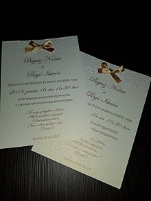 Papiernictvo - Svadobné oznámenie Noemi - 9830025_