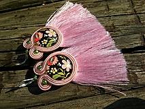 Náušnice - Pink - 9830751_