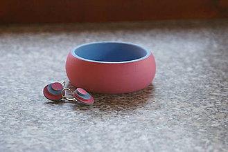 Sady šperkov - Ručne maľovaný set (náramok & náušnice)