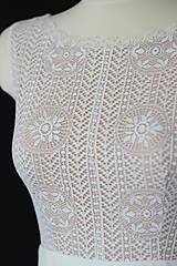 Šaty - Svadobné šaty z hačkovanej krajky a holým chrbátom do V - 9830080_