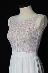 Šaty - Svadobné šaty z hačkovanej krajky a holým chrbátom do V - 9830081_
