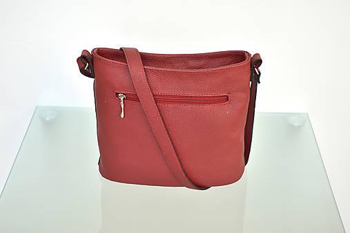 Kožená kabelka VIKI červená   Emmka-shop - SAShE.sk - Handmade Kabelky 8882bff37a7