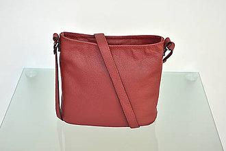 Kabelky - Kožená kabelka VIKI červená - 9831141_