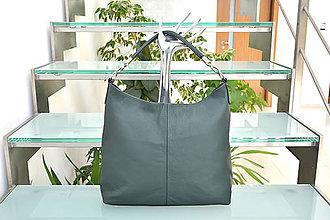 Kabelky - Kožená kabelka GABI zelená tmavá - 9831165_