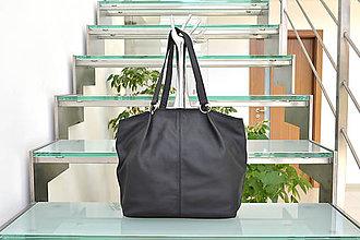 Kabelky - Kožená kabelka LEA čierna - 9831213_