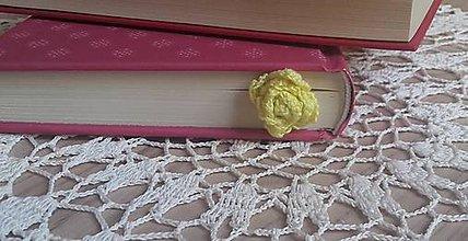 Drobnosti - Záložka do knihy- kvet - 9830921_