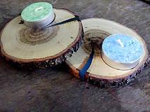 Svietidlá a sviečky - Drevený svietnik DUB - 9830140_
