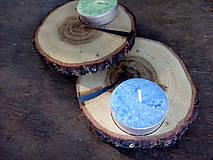 Svietidlá a sviečky - Drevený svietnik DUB - 9830143_
