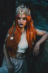 Ozdoby do vlasov - Mušličková koruna z kolekcie Mermaid dream - 9831770_
