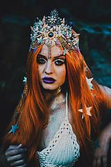 Ozdoby do vlasov - Mušličková koruna z kolekcie Mermaid dream - 9831772_