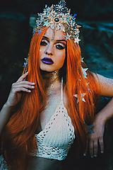 Ozdoby do vlasov - Mušličková koruna z kolekcie Mermaid dream - 9831774_