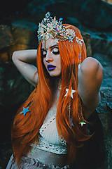 Ozdoby do vlasov - Mušličková koruna z kolekcie Mermaid dream - 9831775_