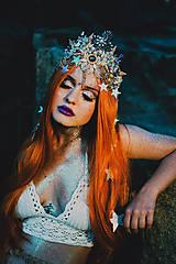 Ozdoby do vlasov - Mušličková koruna z kolekcie Mermaid dream - 9831776_